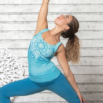'The Spirit of OM' Yoga-Top 'Chakra' tropical blue