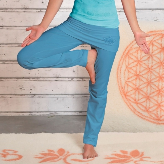 'The Spirit of OM' Yogahose mit Rock-Bund aloha-blau